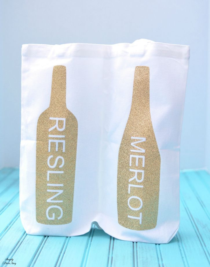 Carry your wine in style with this double wine bottle tote bag