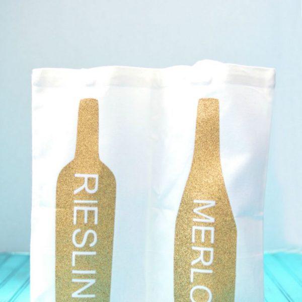 DIY Double Wine Bottle Tote Bag
