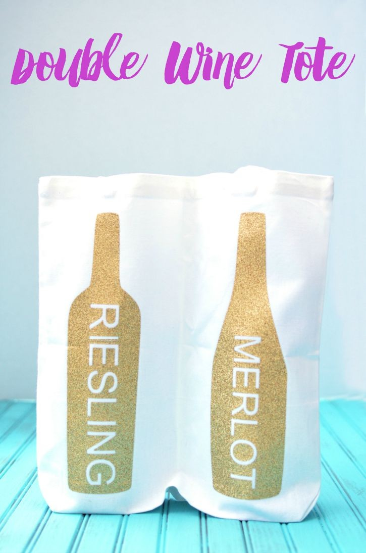 Carry Your Wine in Style with this double bottle wine tote bag
