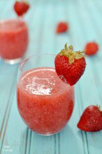 A delicious strawberry and white wine sangria featuring CK Mondavi White Zinfandel. A delicious summer beverage.