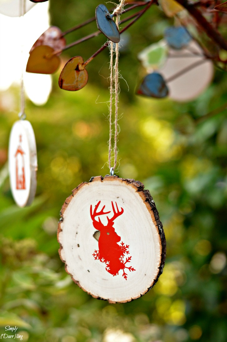 Christmas Wood Slice Ornaments