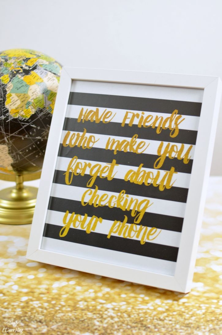 image regarding Printable Gold Foil called No cost Gold Foil Printable around Friendship