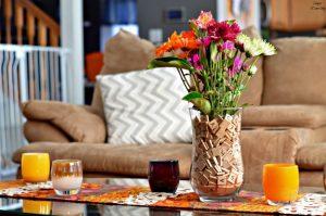 Scrabble Vase Centerpiece
