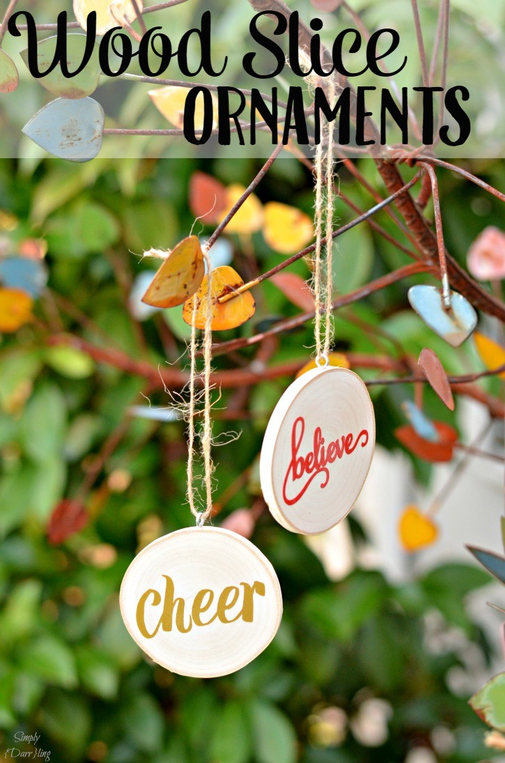 Wood Slice Christmas Ornaments - A fun and easy DIY for holiday gifts.