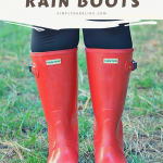 how to clean hunter rain boots