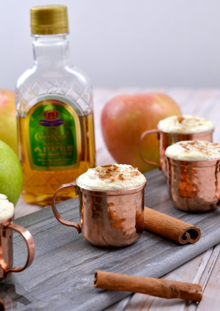 A warm apple cider shot featuring crown royal simply darrling crown royal warm apple cider shot recipe forumfinder Images