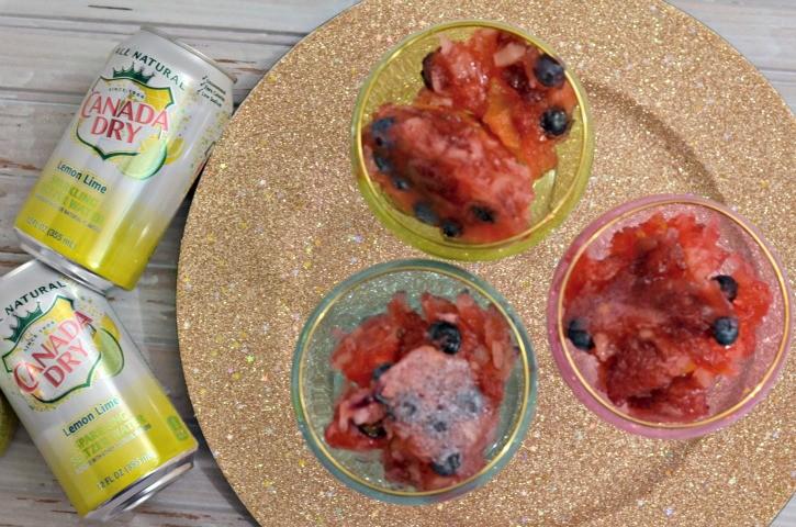 Sparkling Gelatin Fruit Dessert