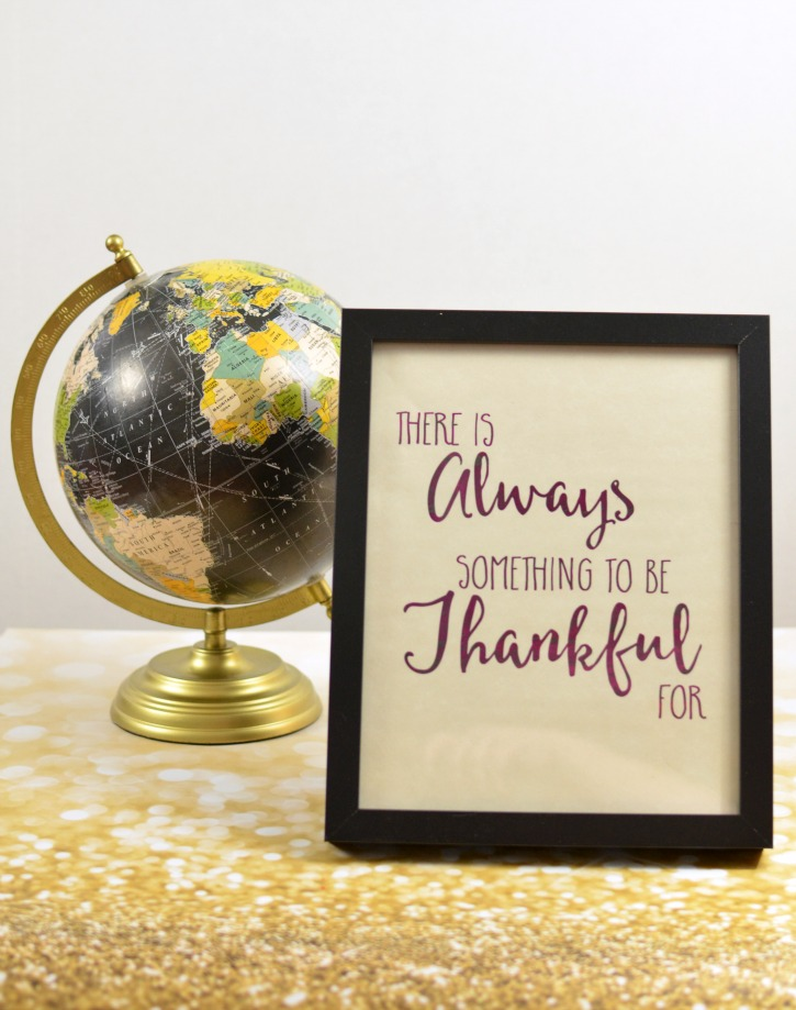 There is always something to be thankful for free printable