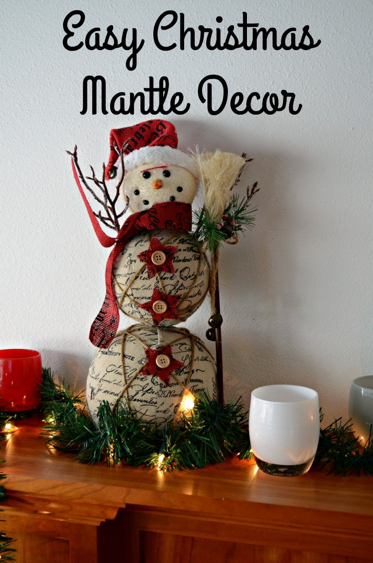 Easy Christmas Mantle Decor