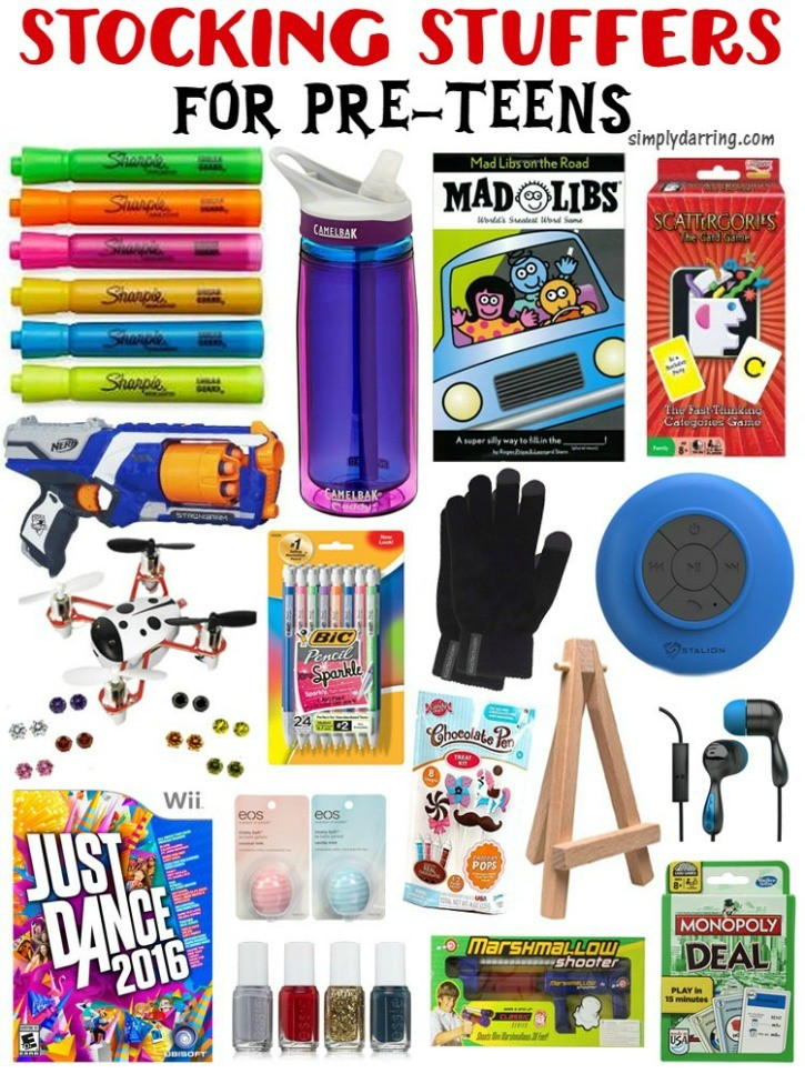 Compilation of Great Stocking Stuffers for Pre-Teens