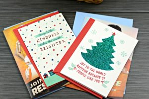 Christmas greeting cards from Hallmark