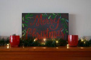 Easy Christmas Mantle Decor