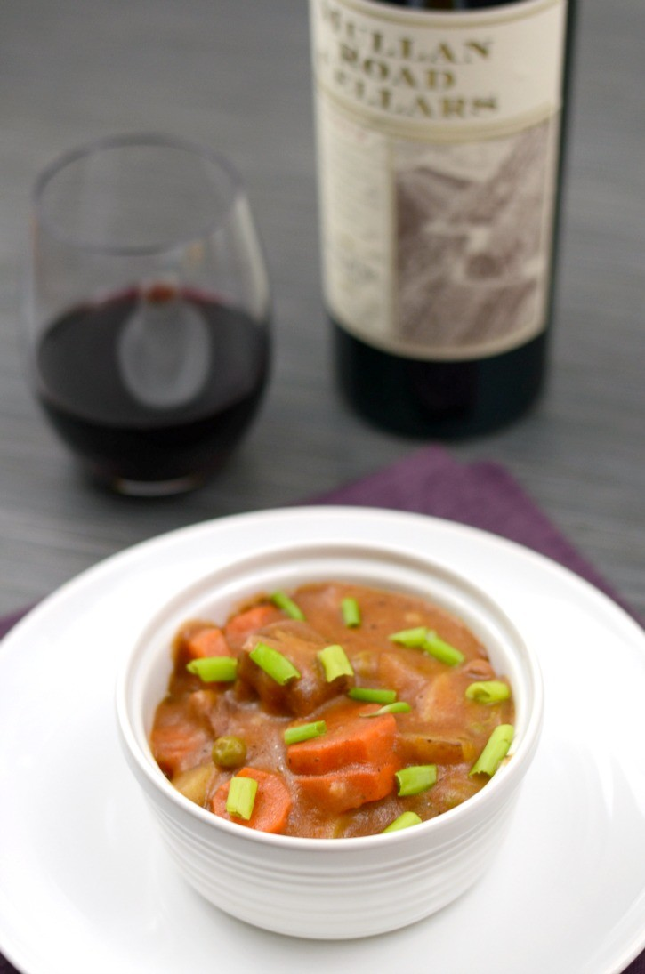 Slow Cooker Beef Stew with Mullan Road Cellars Wine Pairing
