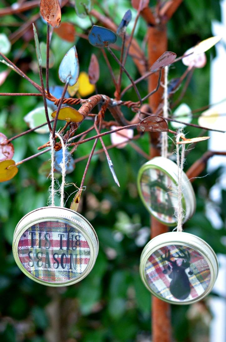 Christmas Mason Jar Lid Ornaments Simply Darr Ling