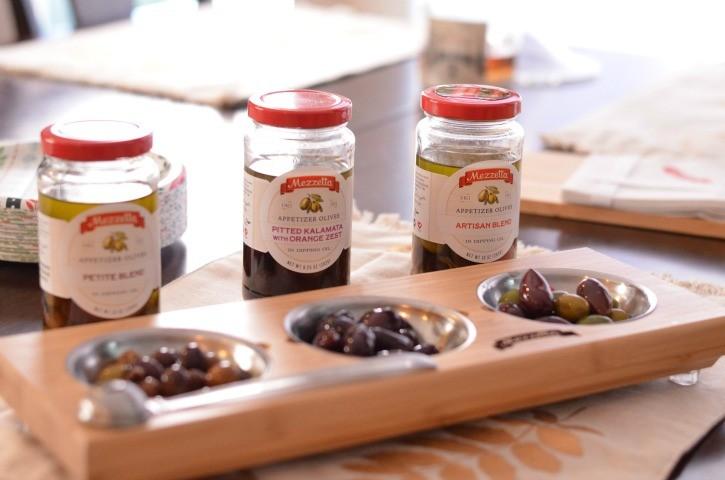 Mezzetta Olives set out as an appetizer