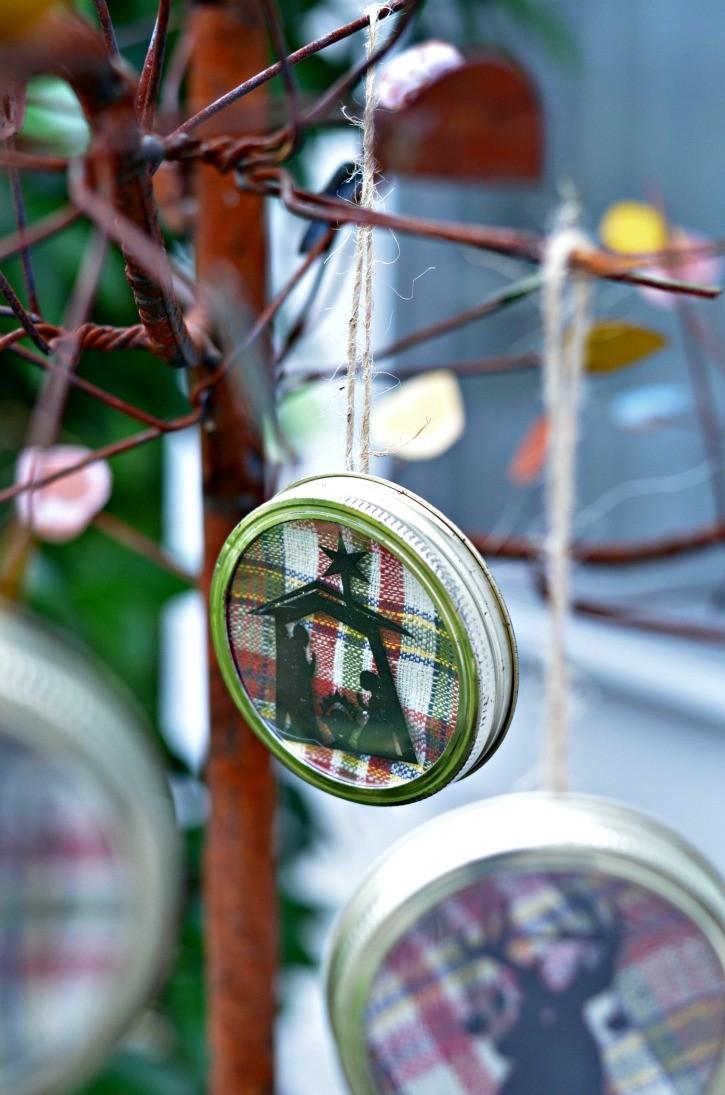 Mason jar ornaments - Nativity Mason Jar Lid Christmas Ornament