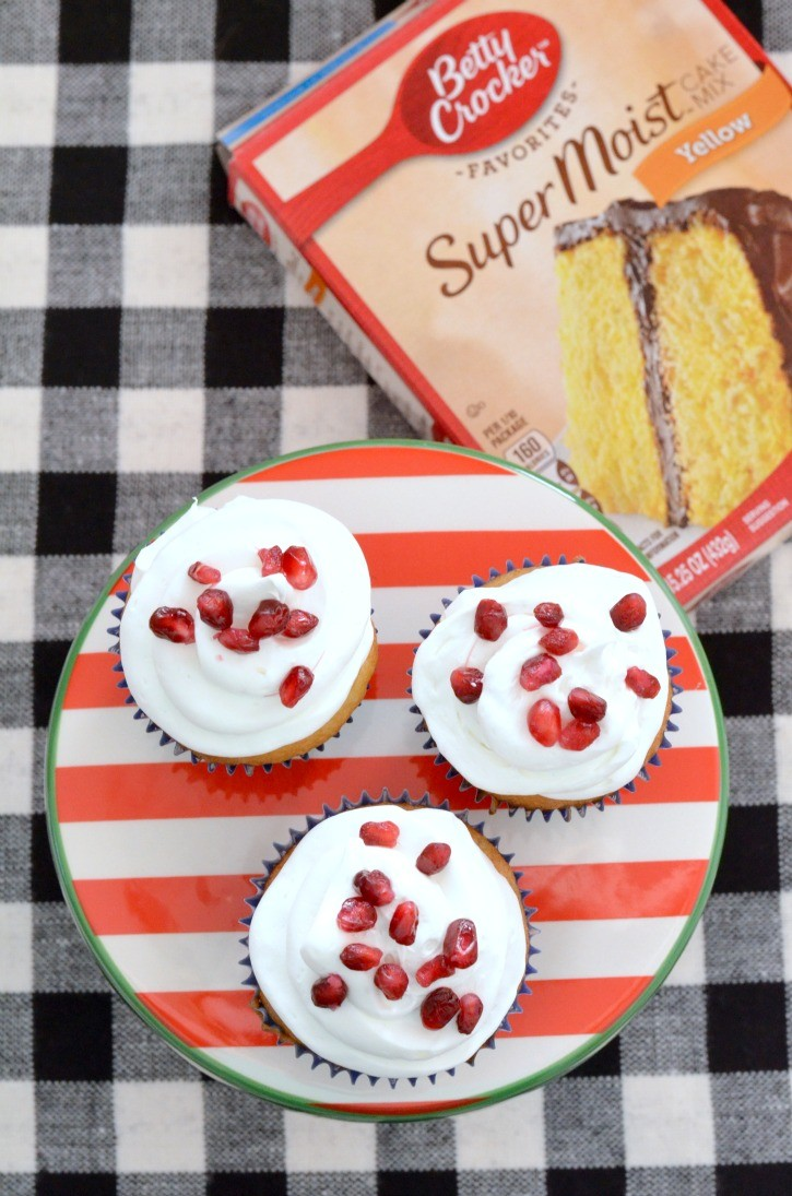 Pomegranate Cupcake