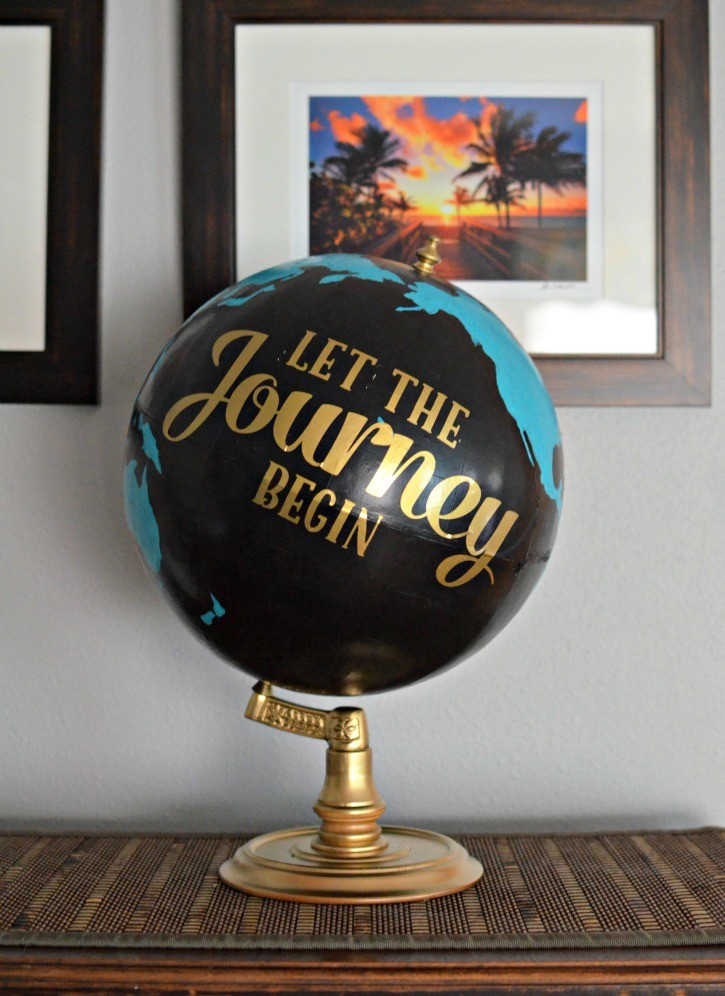 Upcycled Thrift Store Globe, shared by Simply (Darr)ling
