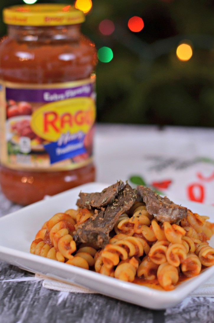 Carne Asada with Red Sauce Pasta