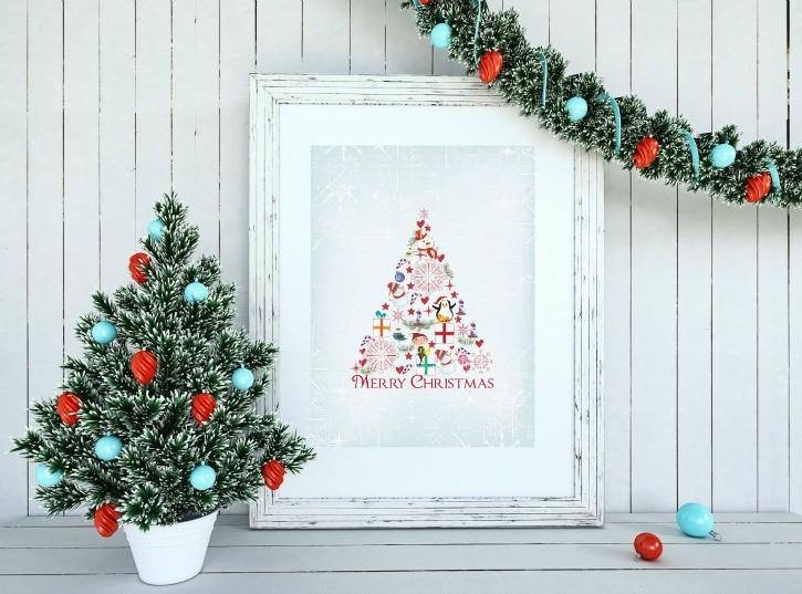 Easy Christmas Framed Print Artwork