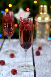 Raspberry Champagne Chambord and Champagne Cocktail