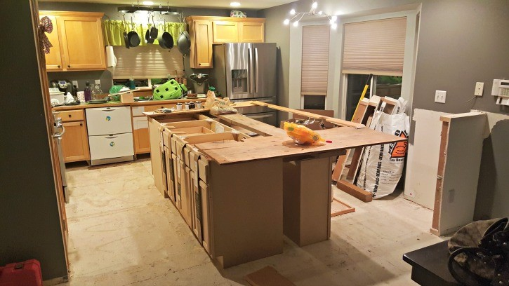 Kitchen Island in Progress
