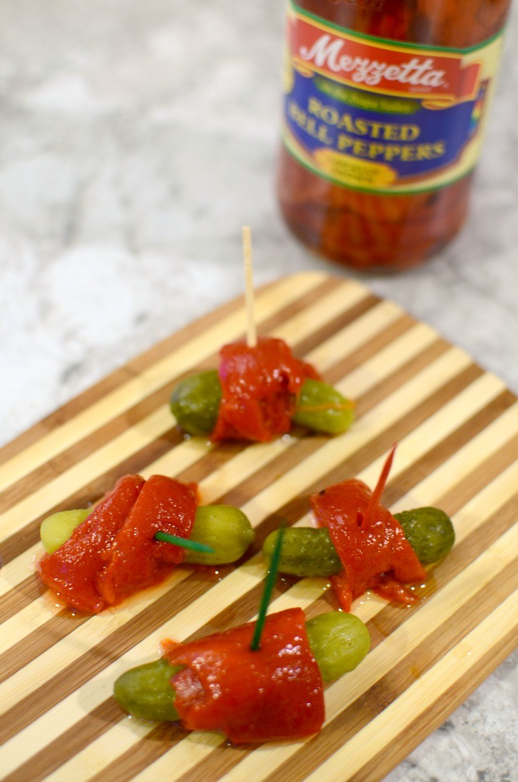 Bell Pepper Wrapped Pickles