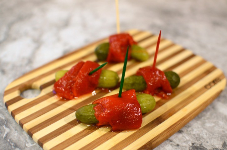 Pepper Wrapped Pickles