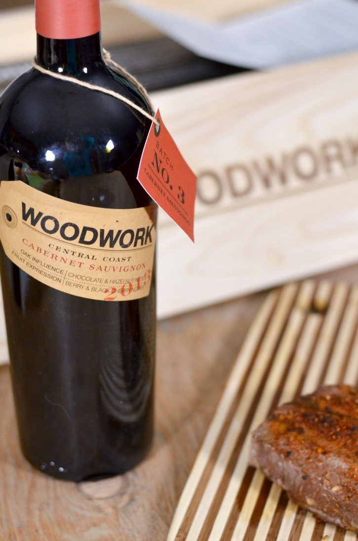 Woodwork Wines Cabernet Sauvignon with Grilled Steak