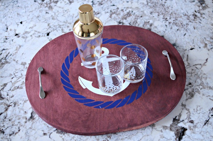 Upcycled Nautical Anchor Serving Tray