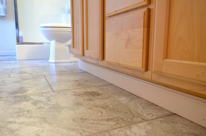 Updated Vinyl Floors with The Home Depot Adhesive and Groutable Tiles