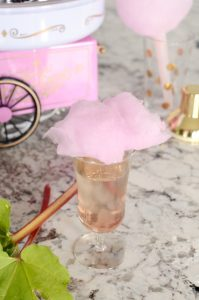 Rhubarb & Cotton Candy Cocktail