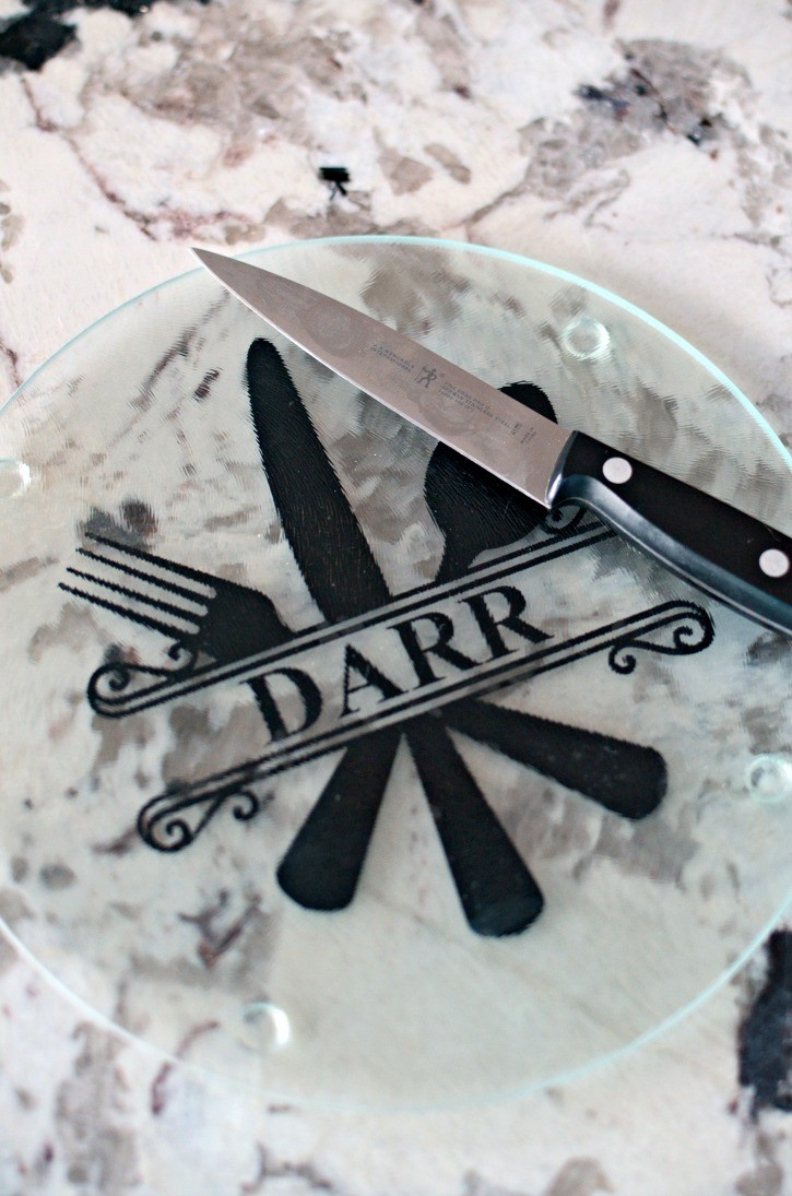 Easy DIY Personalized Glass Cutting Boards