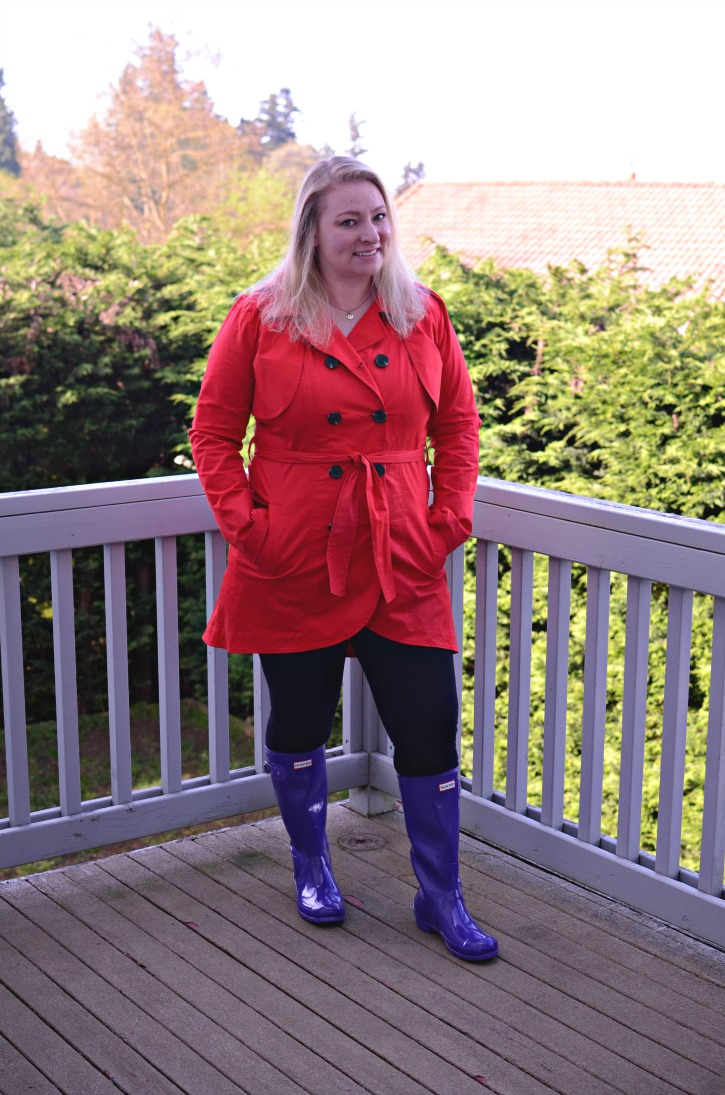 How To Wear Purple Hunter Rain Boots - Simply {Darr}ling