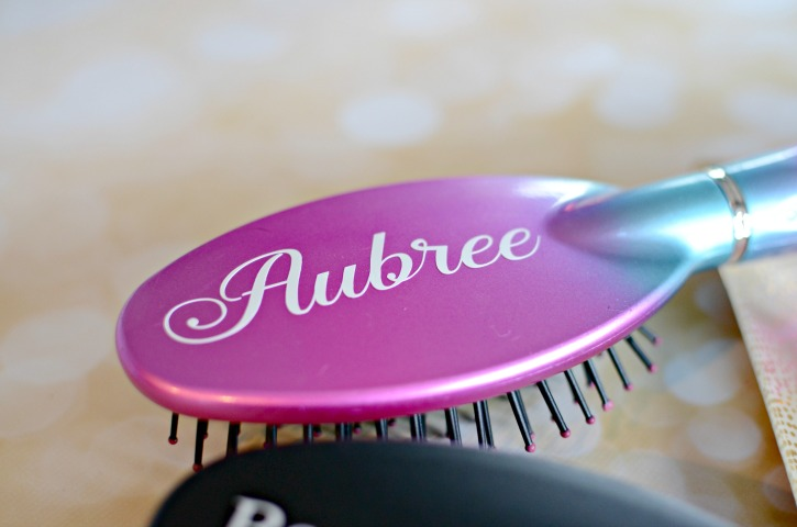 Personalized Hairbrush with Vinyl