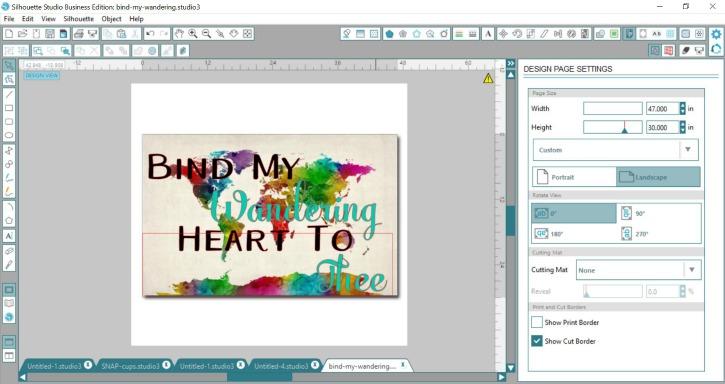 Silhouette Studio Canvas Mockup