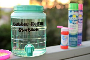 Easy DIY Bubble Refill Station