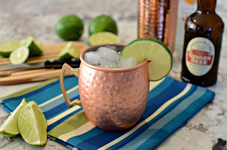 Orange Moscow Mule in Copper Cup