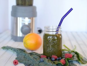 Summer Berry Green Smoothie with Jamba Appliances