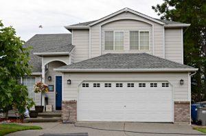 House with easy diy faux garage door windows