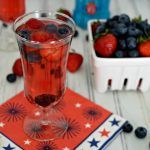 Red, White, and Berry Sparkling Cocktail