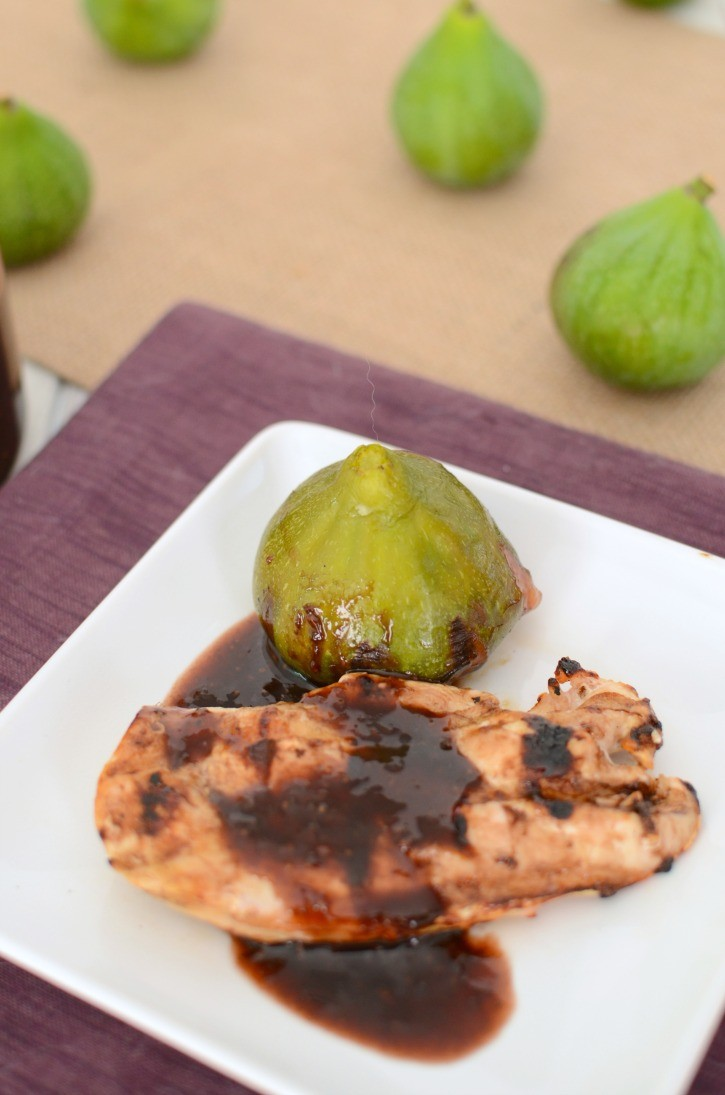 Grilled chicken with Fresh Fig Glaze