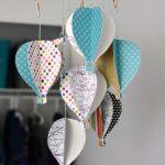 DIY Paper Hot Air Balloon Baby Mobile