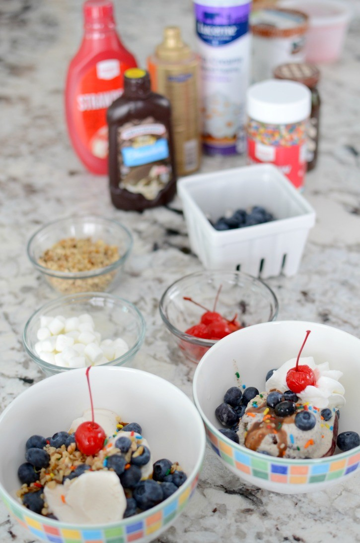 Labor Day BBQ Ice Cream Sundae Bar