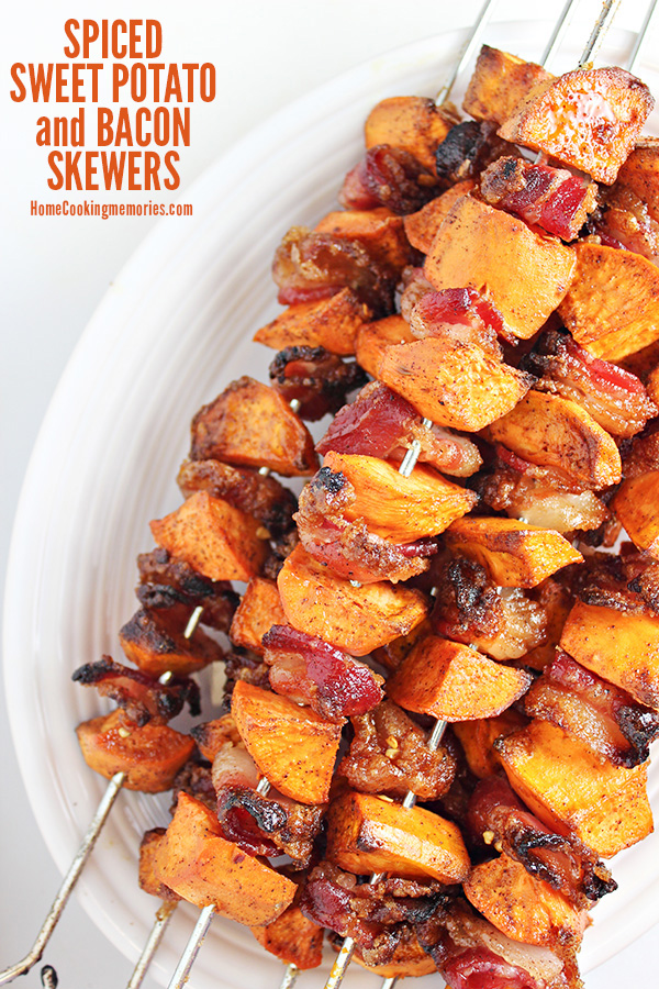Sweet Potato Bacon Skwers