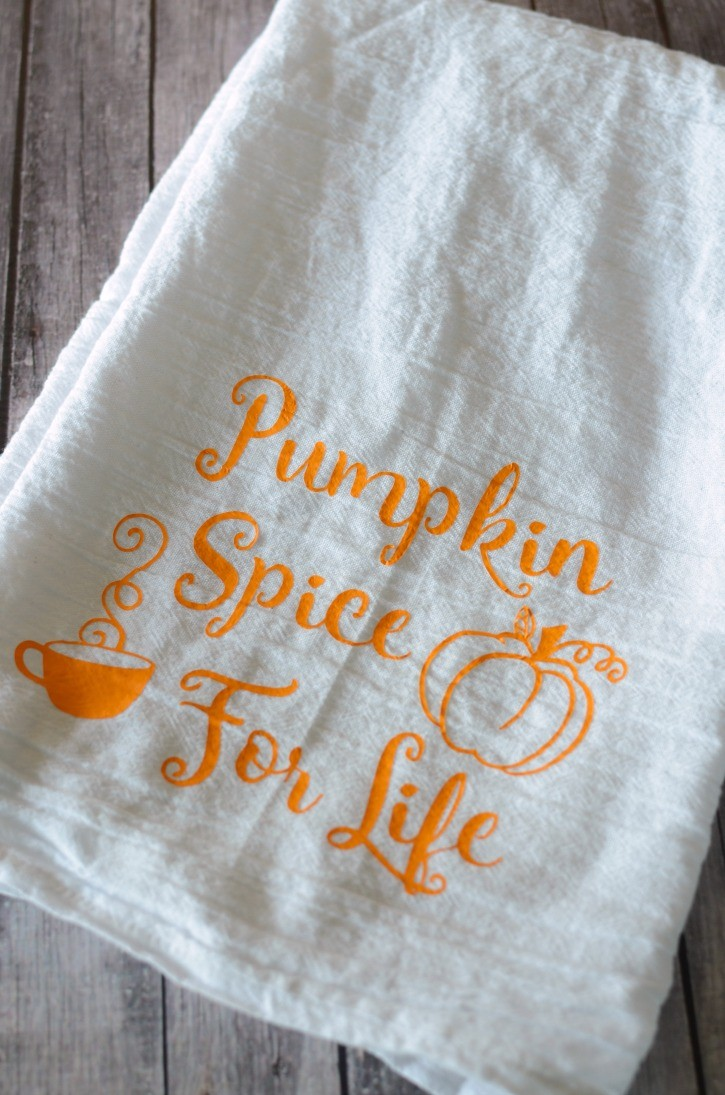 Pumpkin Spice For Life Kitchen Towel
