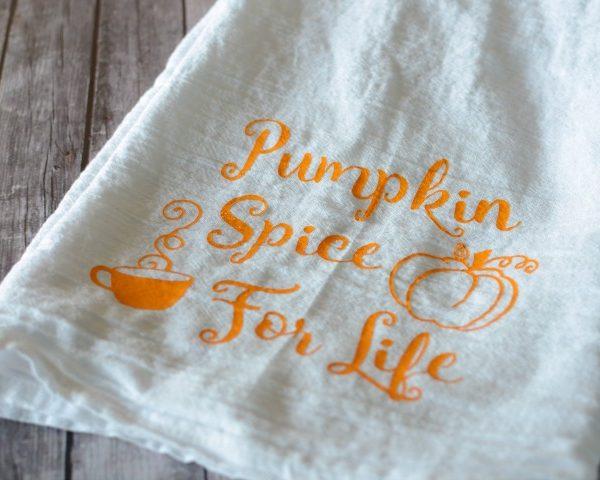 Pumpkin Spice For Life Kitchen Towel
