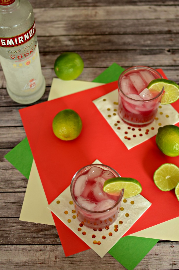 Hibiscus Lime Cooler Cocktail Recipe