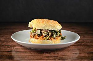 Easy Shredded BBQ Chicken Sandwich