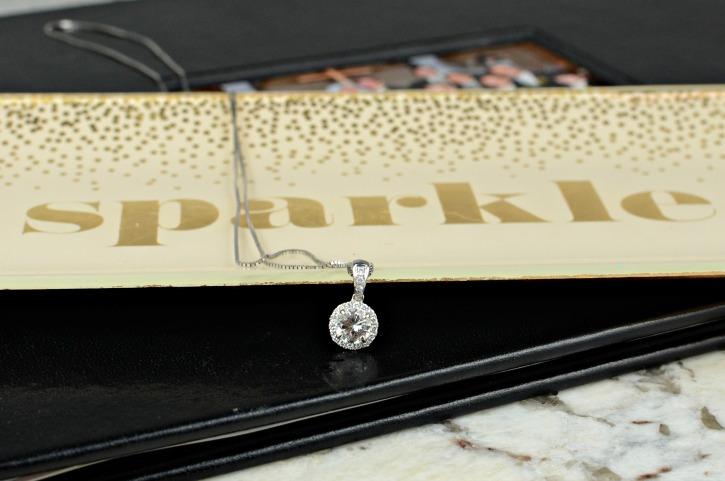 Shane Co Sapphire Pendant Necklace